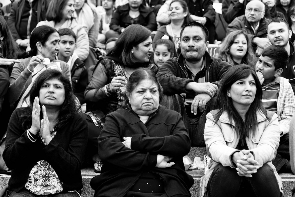 NRIs at a Diwali celebration in London. Photo: Dean Ayres