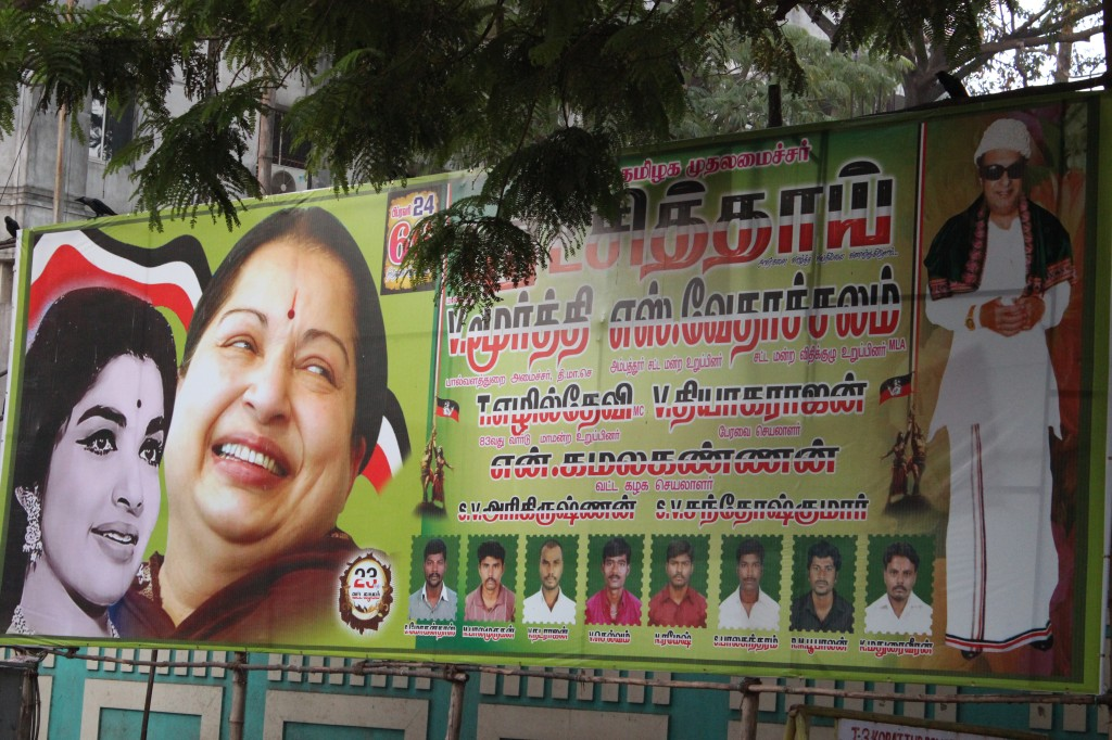Campaigning in Madras for the April 24 election. Photo: Suriyan Sai