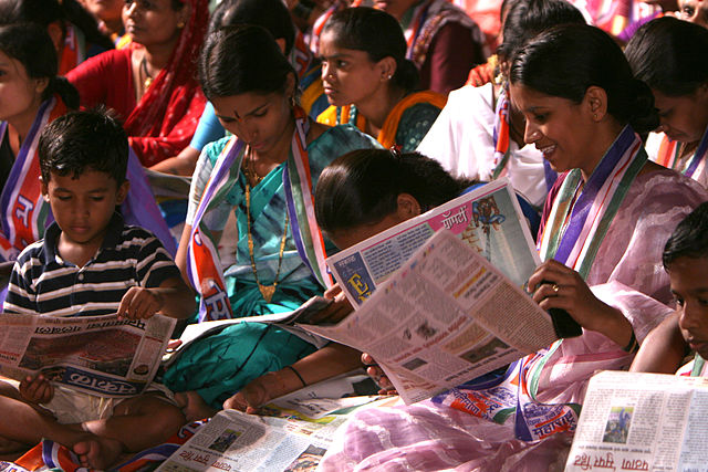 Women in India at a rally in Mumbai. Photo: Al Jazeera English, CC